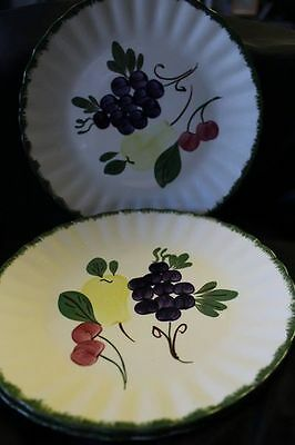 Fruit Fantasy by Blue Ridge Southern Pottery China Dinner Plates Lot of 3