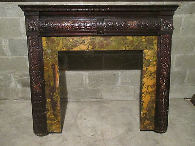 Ornate Vintage Fireplace Mantel ~ 53 X 44 ~ Architectural Salvage