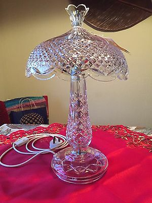 """Waterford """"Achill"""" Cut Crystal Table Lamp"""