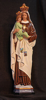 """Our Lady of Mt. Carmel 26"""" Catholic Christian Virgin Mother Mary Plaster Statue"""