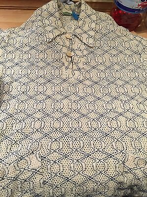 Men's Vintage Top Fred Perry Sportswear Tennis Top Teabag/waffle Effect