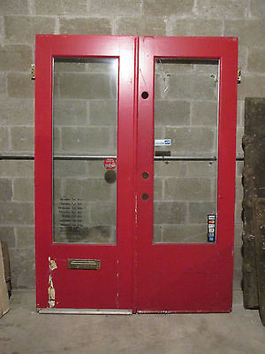 ~ Antique Double Entrance French Doors ~ 60 X 83 Architectural Salvage