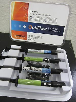 Dental Flowable Composite Opti-Flow Syringe A1 (4 x 1g)