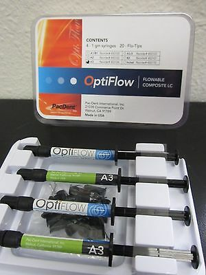 Dental Flowable Composite Opti-Flow Syringe A3 (4 x 1g)