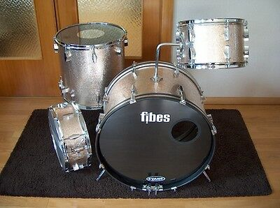 FIBES Drum Shell Kit 22,12,16 + 14 Snare Drum,Schlagzeug Shell Set,Vintage 60s