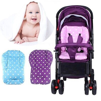 Infant Soft Cotton Baby Stroller Pad Seat Cushion Polka Dot Printed