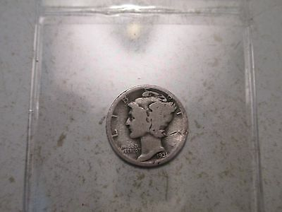 1931-D Mercury dime (1) READ DESCRIPTION