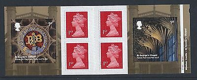 """GREAT BRITAIN:""""WINDSOR CASTLE- STAMP BOOKLET"""" FIRST DAY ISSUE with PLATE NUMBERS"""