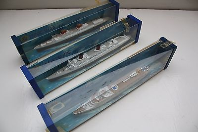 Hornby Minic die cast ships 3 ocean Liners boxed