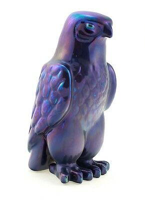 Zsolnay Purple Eosin Hawk Figurine