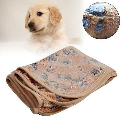 Removable Soft Puppy Dog Cat Pet Bed Cushion Blanket Mat Bask Brown 20 x 20cm TR