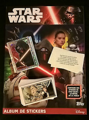 Album Stickers Star Wars Topps Vide + 184/324 Images A Coller (Non Panini)