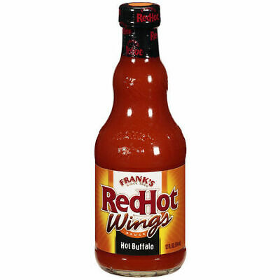 Franks Red Hot Wings Sauce HOT Buffalo-BLACK 12oz 354ml Frank's Red Hot, HOT HOT