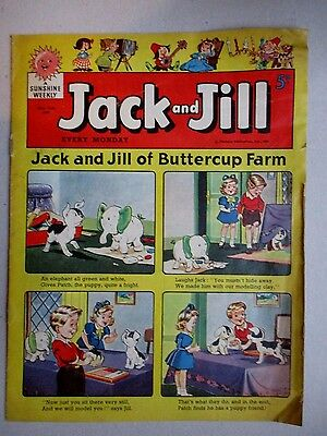 Jack and Jill children's comic- May 21 1960.Harold Hare/Freddie Frog/Pixie Pip
