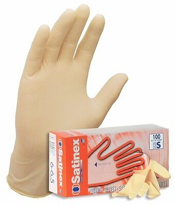 Disposable Latex - Powder Free - 100 gloves (Boxed) - Large - Satinex