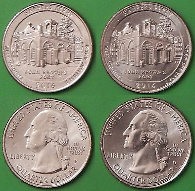 2016 US Harpers Ferry Quarter Set One P&One D From Original Rolls
