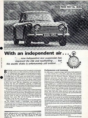 Motor magazine road test: 1965 Triumph TR4A - 6-page road test