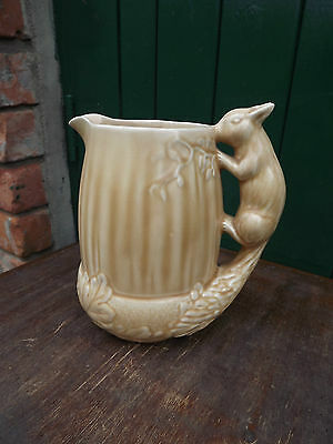 1930s Vintage SYLVAC ART DECO Jug Vase SQUIRREL handle Model number 1958