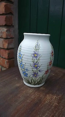 E Radford 1930's Art Deco Ceramic Large Vase with star shaped flower pattern