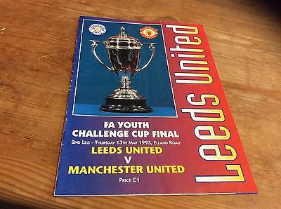 Leeds United V Manchester United FA Youth Cup Final 2nd Leg 13/5/1993