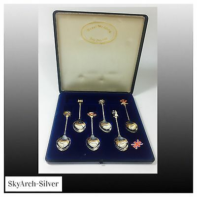 SILVER PLATED SPOONS Royal Wedding CHARLES & DIANA Set Of 6 NO RESERVE
