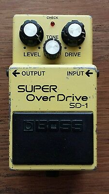 Vintage Boss SD-1 Super Overdrive Pedal MIJ Made In Japan