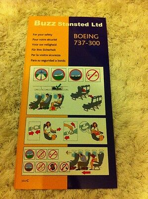 Buzz Stansted Ltd Boeing 737-300 Safety Card