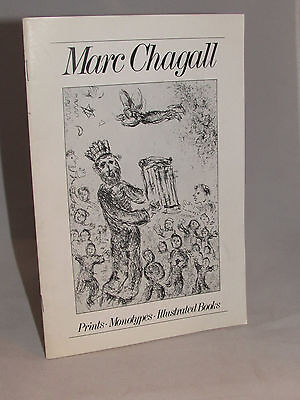 "Marc Chagall 1979 MOMA Program ""Prints Monotypes Illustrated Books"""