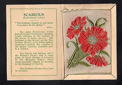Kensitas Wix Medium Variety  Silk Flower SCABIOUS Red and Salmon folder A