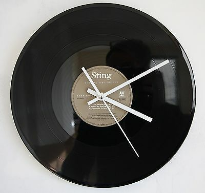 Clock Vinyle's Horloge Design Collector Sting Nothing Like The Sun