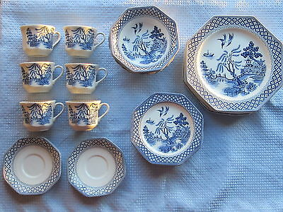Royal Staffordshire Willow Ironstone Dinner Set - Liberty J&g Meakin