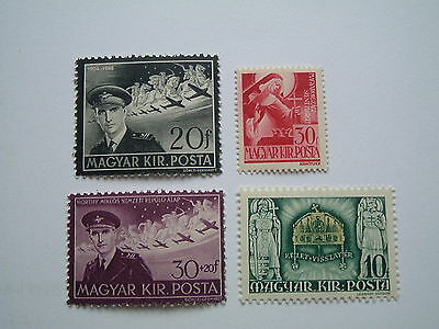 Hungary 1940-44. Single stamp issues of the 1940's. MNH