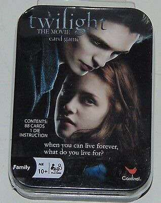 Cardinal Games Twilight the movie card game in travel tin new sealed