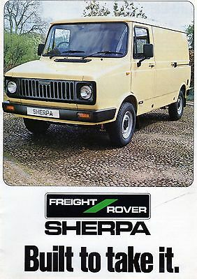 Freight Rover Sherpa Brochure