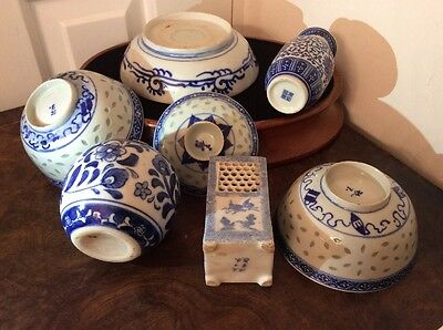 Antique Chinese Blue and White Porcelain Collection KANGXI Plus Others