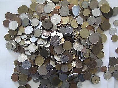 Lot Of 1 One Lb Pound Bulk Foreign Coins-Many Countries
