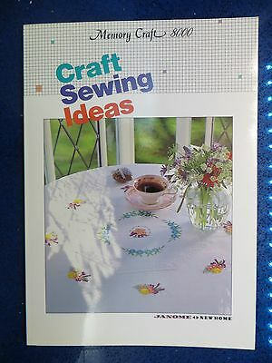 Janome Memory Craft 8000  Craft Sewing Ideas