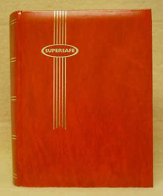 Supersafe Stock Book - 32 Black Pages - Red - New - Free Ship  #ss-Sbb16Red
