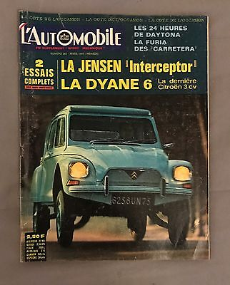 l'automobile magazine N° 263 Mars 1968 - Voiture Ancienne Collection