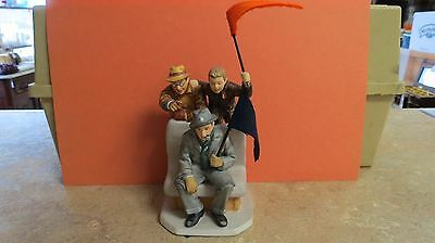 """Gorham Life with Father """"Cheering Champs"""" Norman Rockwell Figure"""