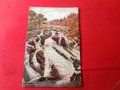 Postcard Swallow Falls Bettws- y- Coed Wales Posted 1944