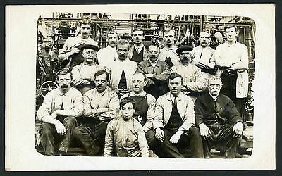 Real Photo RPPC Postcard Mill Workers Social History Bradford c 1910 Mills Lancs