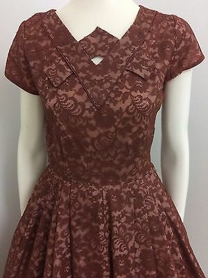 Original Vintage 50s Full Skirt Dress , Day Party , Rockabilly , Pinup