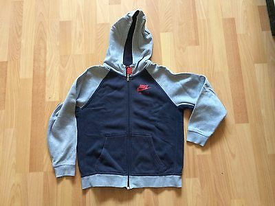 Boys Nike Air Hoody Zip Up Age 12-13 Years Navy & Grey Hoodie