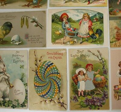 Antique/Vintage Easter Postcards Lot, 1 is a Kaleidoscope Mechanical, Silk