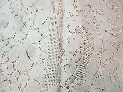 Vintage flat Filet Crochet large Tablecloth