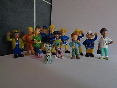 Fireman Sam And Friends 12 Pcs Toy Set / Cake Toppers New Uk Seller