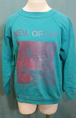 VINTAGE 80s HANES NEW ORDER POWER CORRUPTION AND LIES SWEATSHIRT SIZE L