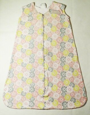 HALO SleepSack 100% Cotton Wearable Blanket Floral Size 6-12 Months 16-24 lbs.