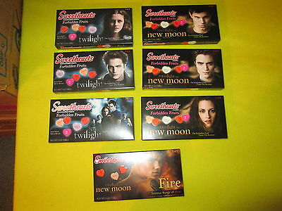7 Boxes The Twilight Saga New Moon Sweethearts Candies Forbidden Fruits and Fire